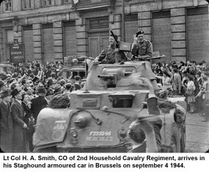 Lt-Col-H-A-Smith,-CO-of-2nd-Household-Cavalry-Regiment,-arrives-in-his-Staghound-armoured-car